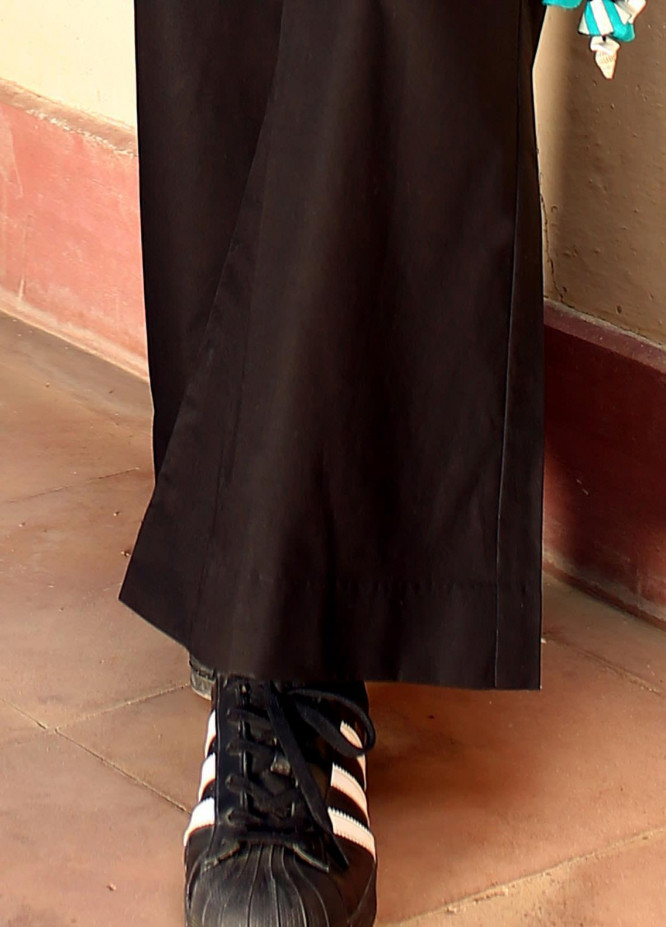 Zaaviay Fancy Cotton Stitched Trousers ZW20P ZDT-004 BALCK BELL BOTTOMS