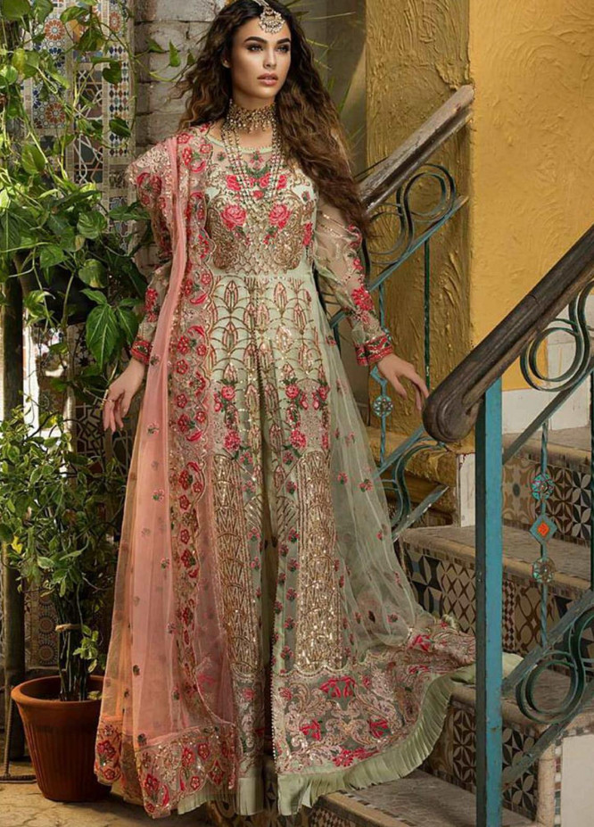 Zah-e-Naseeb by Asifa & Nabeel Embroidered Net Unstitched 3 Piece Suit AN20ZN 01 INARA - Festive Collection