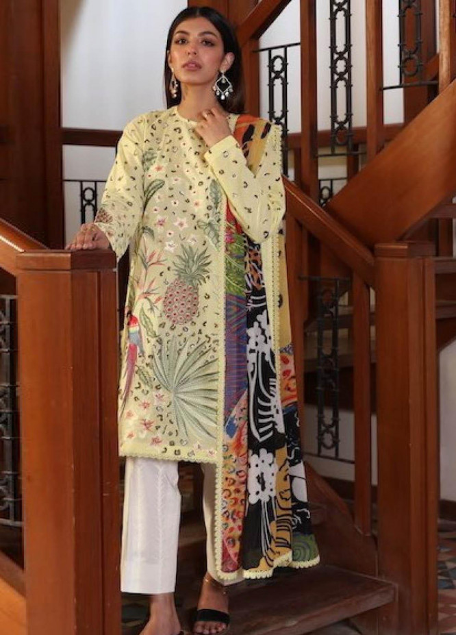 Zaha by Khadijah Shah Embroidered Lawn Suits Unstitched 3 Piece ZKS21L ZL21-02-B VERD - Summer Collection