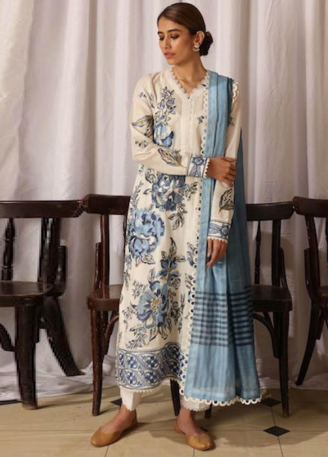 Zaha by Khadijah Shah Embroidered Lawn Suits Unstitched 3 Piece ZKS21L ZL21-04-A NAB - Summer Collection