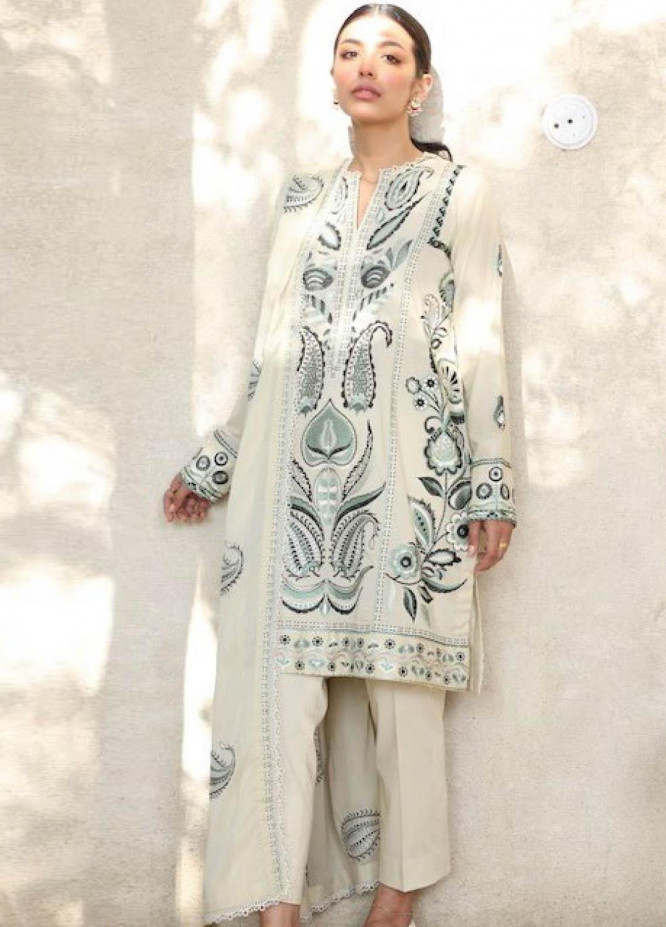 Zaha by Khadijah Shah Embroidered Lawn Suits Unstitched 3 Piece ZKS21L ZL21-06-B SAREH - Summer Collection