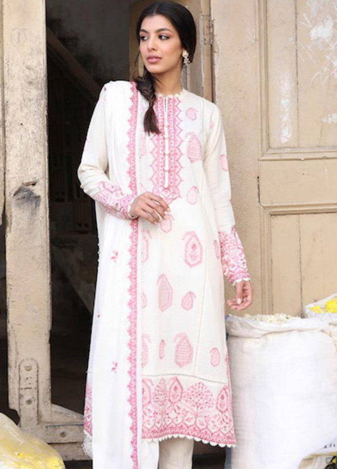 Zaha by Khadijah Shah Embroidered Dobby Suits Unstitched 3 Piece ZKS21L ZL21-15-A ROWSHAN - Summer Collection