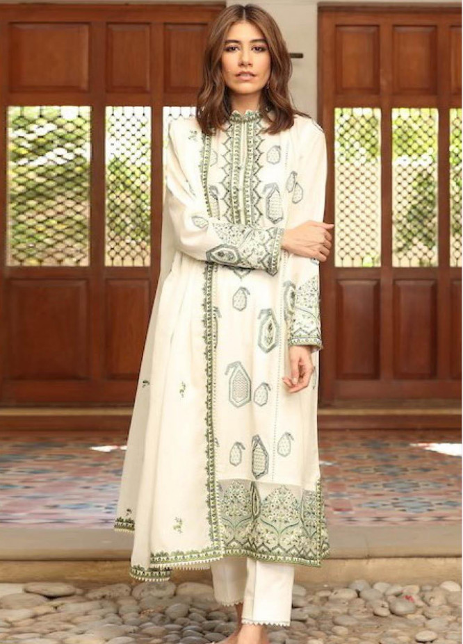 Zaha by Khadijah Shah Embroidered Dobby Suits Unstitched 3 Piece ZKS21L ZL21-15-B ROWSHAN - Summer Collection