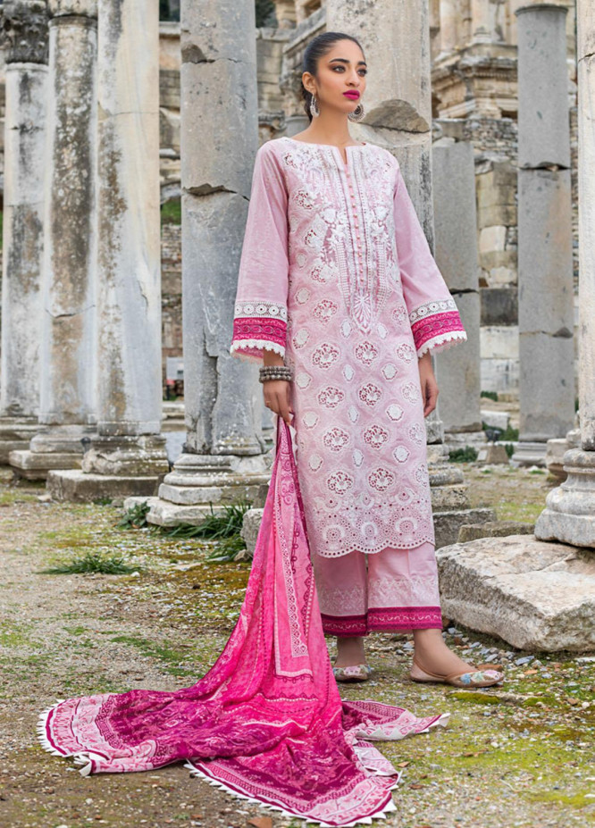 Zainab Chottani Embroidered Chikankari Suits Unstitched 3 Piece ZC21CK 9A Nuray - Luxury Collection