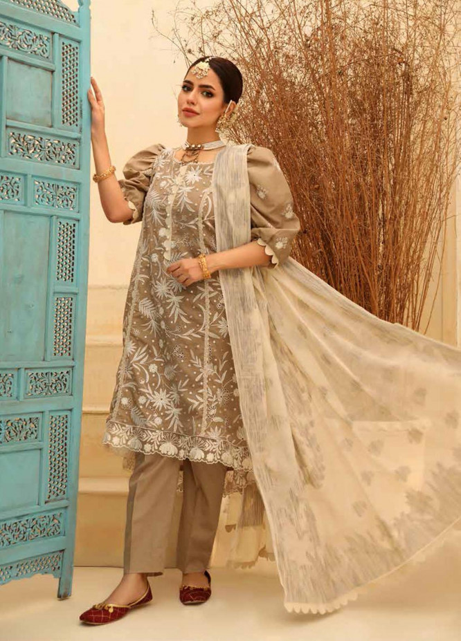 Zara Ali by Magns Textiles Embroidered Lawn Suits Unstitched 3 Piece ZRA21L 01 - Luxury Collection