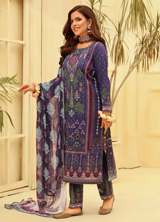 Zara Ali by Magns Textiles Embroidered Lawn Suits Unstitched 3 Piece ZRA21L 05 - Luxury Collection