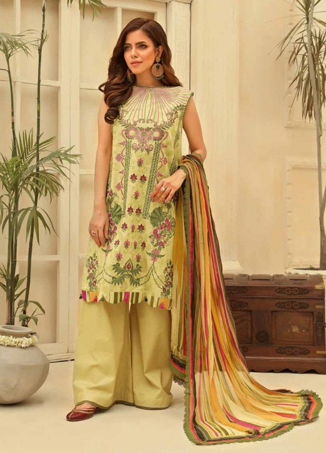 Zara Ali by Magns Textiles Embroidered Lawn Suits Unstitched 3 Piece ZRA21L 10 - Luxury Collection