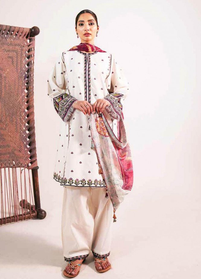 Zara Shahjahan Embroidered Lawn Suits Unstitched 3 Piece ZS21L 01 Meesha-A - Summer Collection