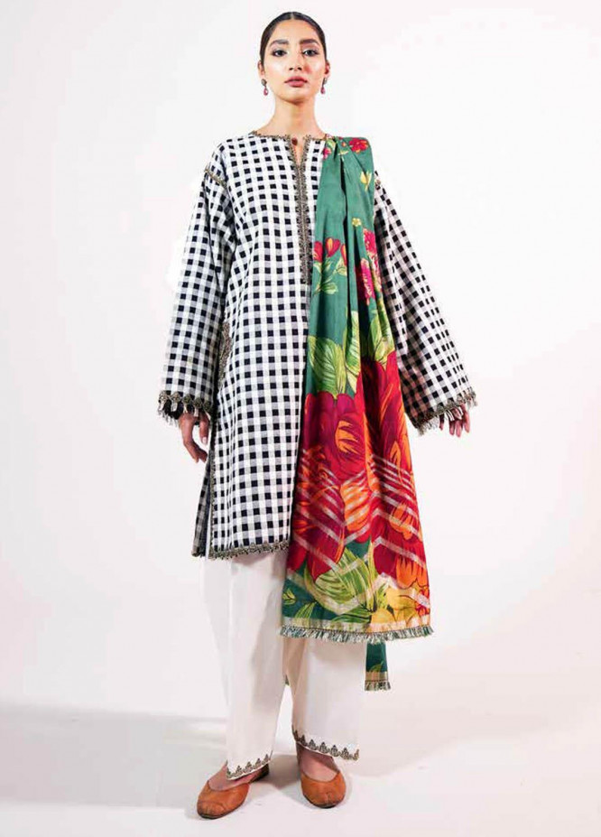 Zara Shahjahan Embroidered Lawn Suits Unstitched 3 Piece ZS21L 07 Manreet-A - Summer Collection