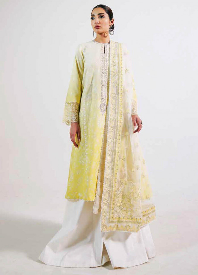 Zara Shahjahan Embroidered Lawn Suits Unstitched 3 Piece ZS21L 18 Rano-B - Summer Collection