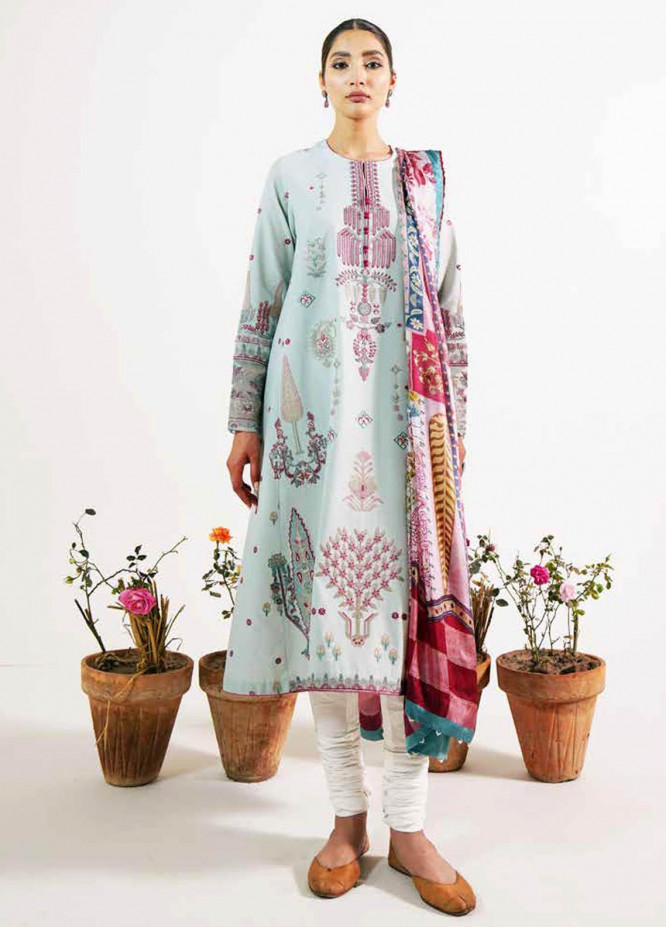 Zara Shahjahan Embroidered Lawn Suits Unstitched 3 Piece ZS21L 24 Khushala-B - Summer Collection