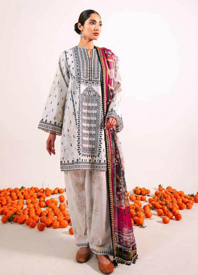Zara Shahjahan Embroidered Lawn Suits Unstitched 3 Piece ZS21L 27 Shireen-A - Summer Collection