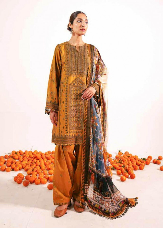 Zara Shahjahan Embroidered Lawn Suits Unstitched 3 Piece ZS21L 28 Shireen-B - Summer Collection