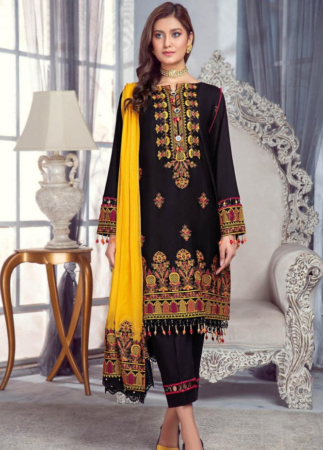 Zarqa by Mohagni Embroidered Lawn Suits Unstitched 3 Piece MO21Z 01A - Summer Collection