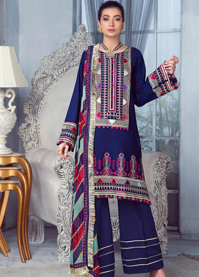 Zarqa by Mohagni Embroidered Lawn Suits Unstitched 3 Piece MO21Z 02A - Summer Collection