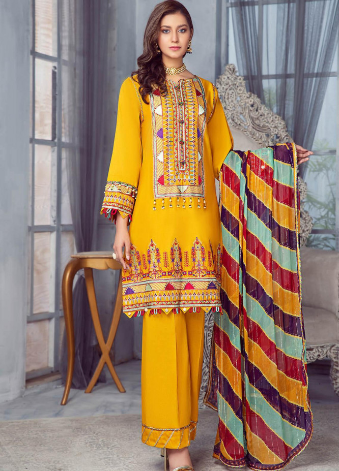 Zarqa by Mohagni Embroidered Lawn Suits Unstitched 3 Piece MO21Z 02B - Summer Collection