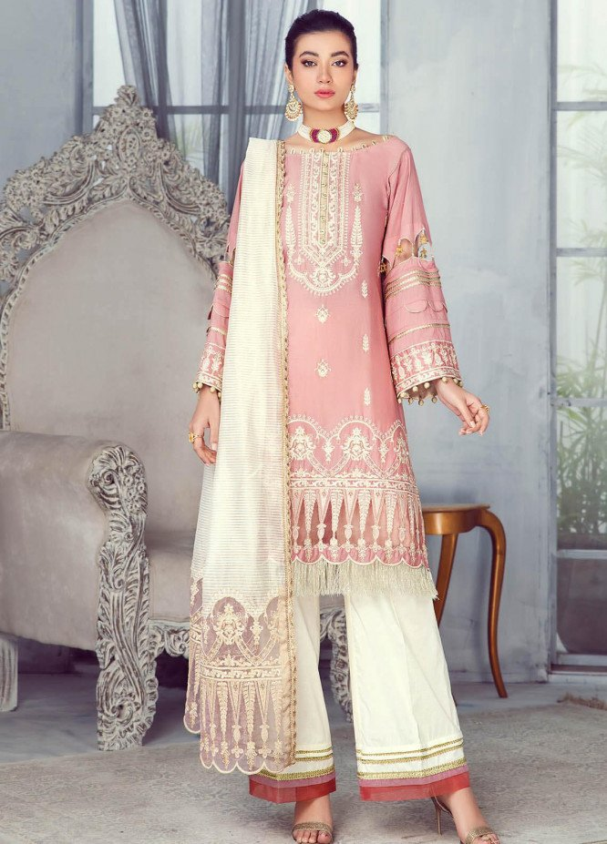 Zarqa by Mohagni Embroidered Lawn Suits Unstitched 3 Piece MO21Z 03A - Summer Collection