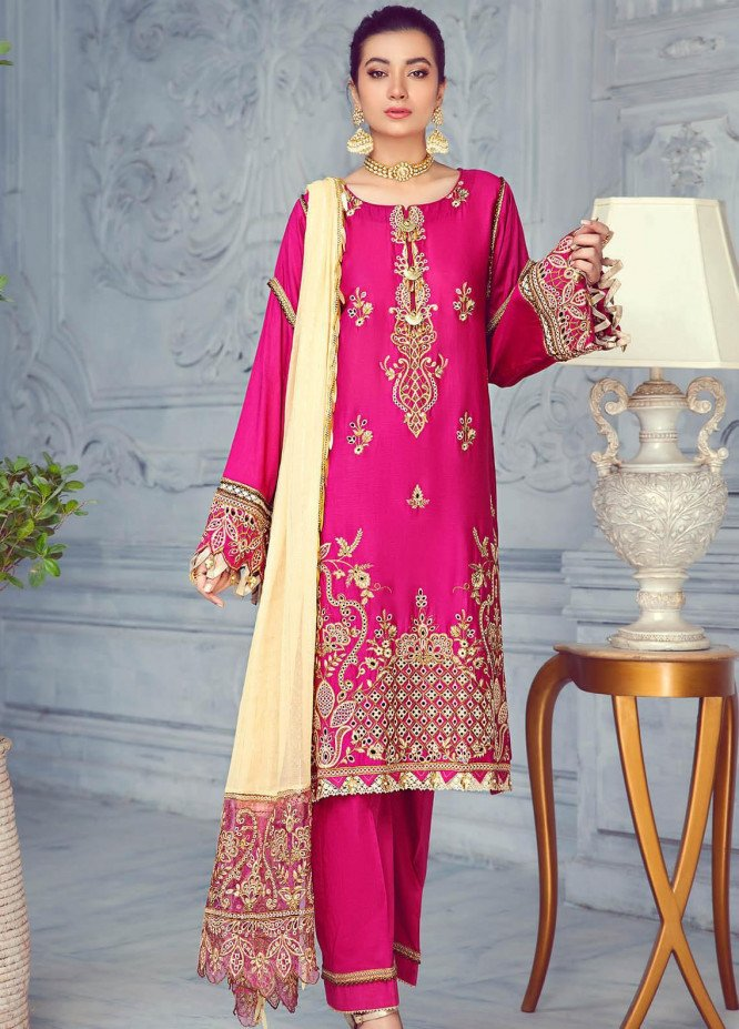 Zarqa by Mohagni Embroidered Lawn Suits Unstitched 3 Piece MO21Z 05A - Summer Collection