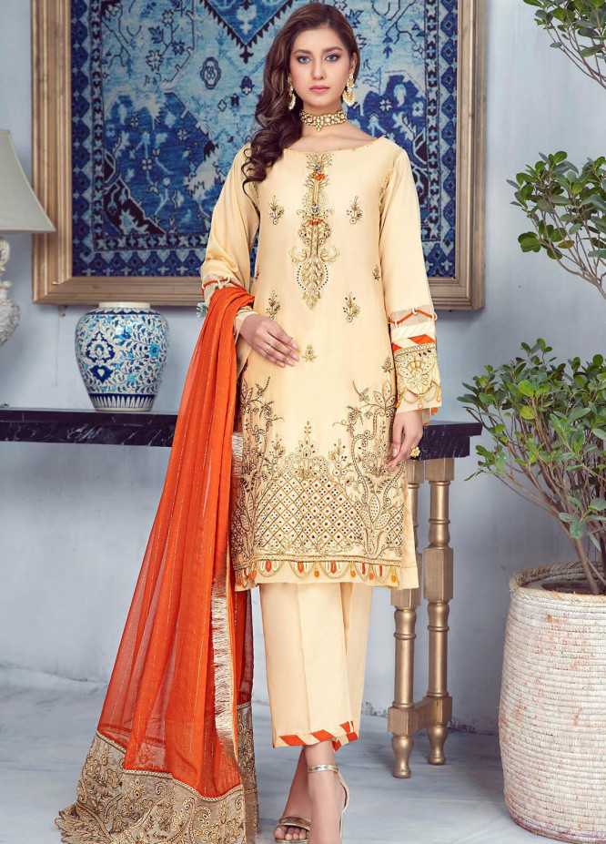 Zarqa by Mohagni Embroidered Lawn Suits Unstitched 3 Piece MO21Z 05B - Summer Collection