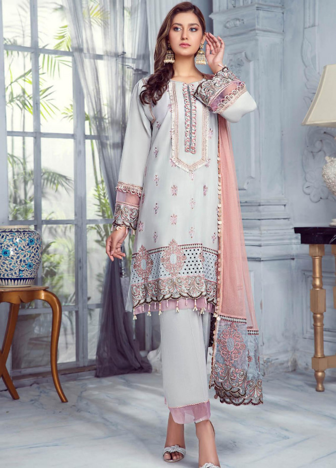 Zarqa by Mohagni Embroidered Lawn Suits Unstitched 3 Piece MO21Z 06B - Summer Collection