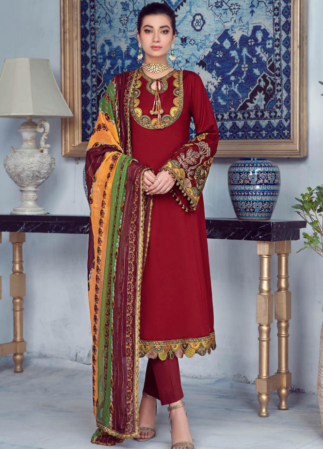 Zarqa by Mohagni Embroidered Lawn Suits Unstitched 3 Piece MO21Z 08A - Summer Collection