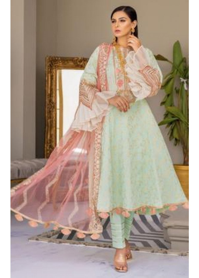 Zeenat by Mohagni Embroidered Lawn Suits Unstitched 3 Piece MO21ZL SJD-21-01 - Summer Collection