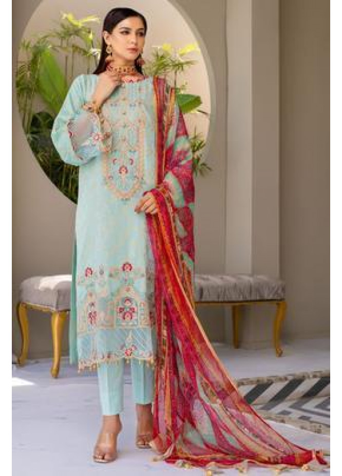 Zeenat by Mohagni Embroidered Lawn Suits Unstitched 3 Piece MO21ZL SJD-21-03 - Summer Collection