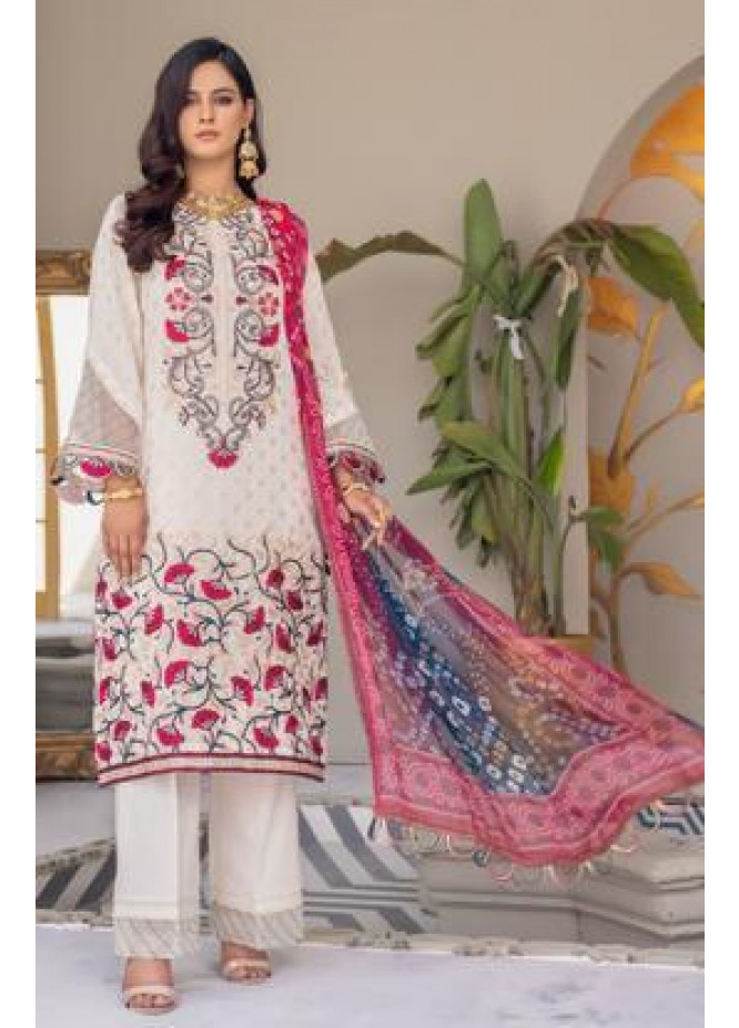 Zeenat by Mohagni Embroidered Lawn Suits Unstitched 3 Piece MO21ZL SJD-21-04 - Summer Collection