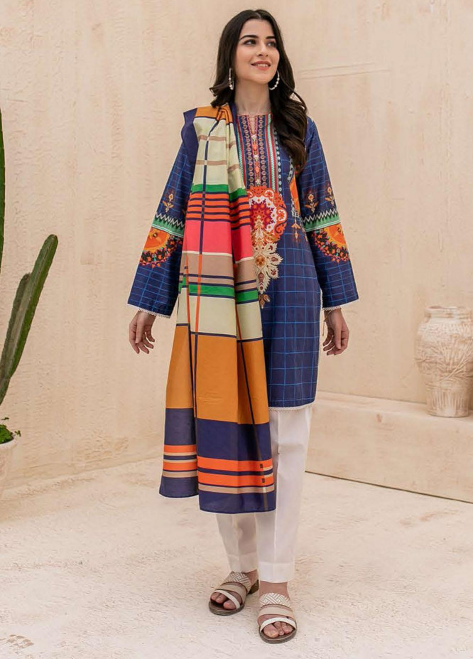 Zellbury Printed Cambric Suits Unstitched 2 Piece ZL21CB WUC21X20014 - Winter Collection