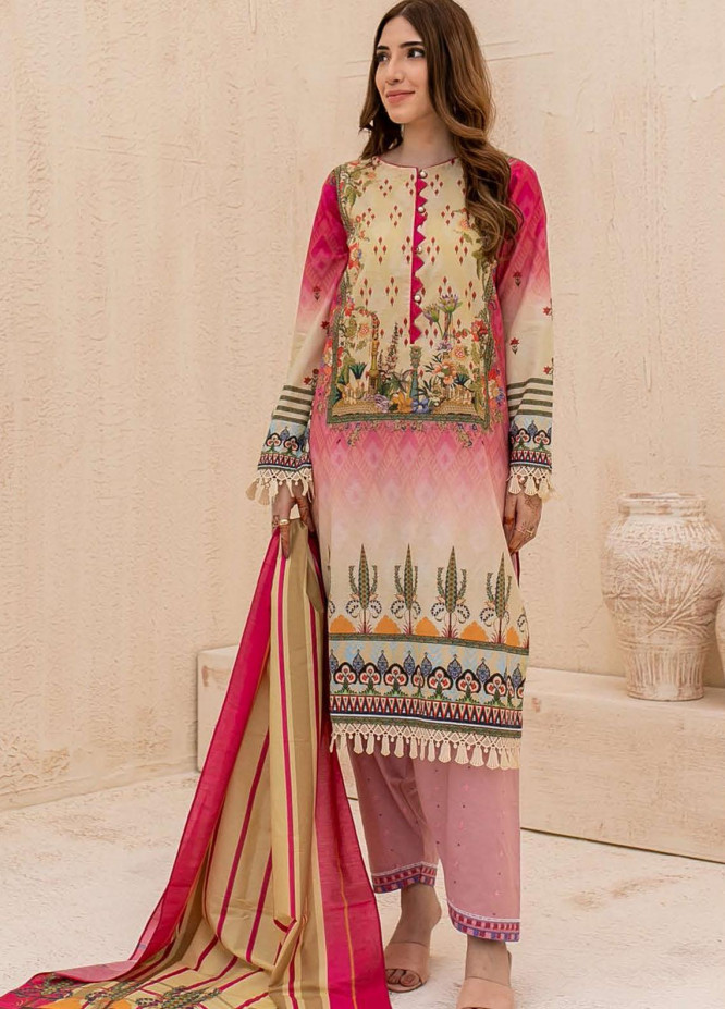 Zellbury Printed Cambric Suits Unstitched 2 Piece ZL21CB WUC21X20015 - Winter Collection