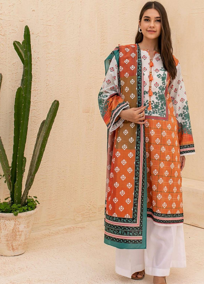 Zellbury Printed Cambric Suits Unstitched 2 Piece ZL21CB WUC21X20016 - Winter Collection