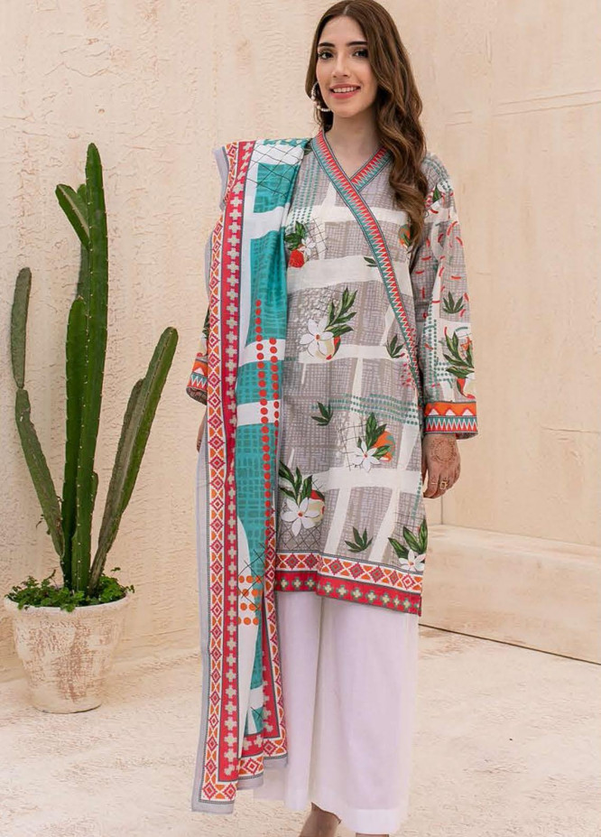 Zellbury Printed Cambric Suits Unstitched 2 Piece ZL21CB WUC21X20020 - Winter Collection