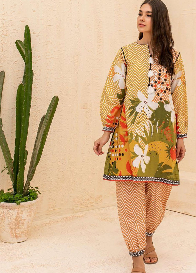 Zellbury Printed Cambric Suits Unstitched 2 Piece ZL21CB WUC21X20007 - Winter Collection