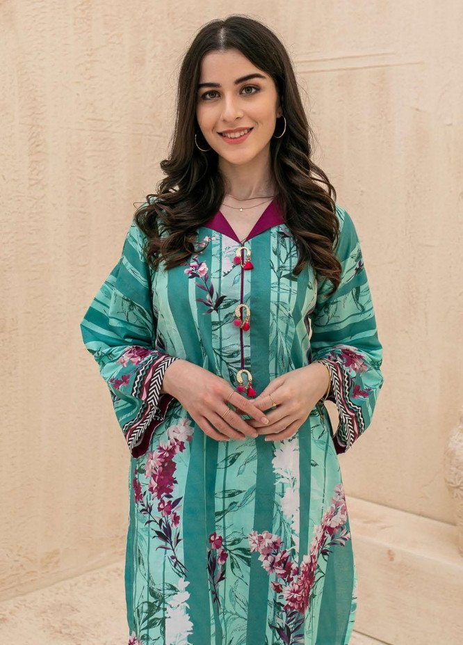 Zellbury Printed Cambric Suits Unstitched 2 Piece ZL21CB WUC21X20009 - Winter Collection