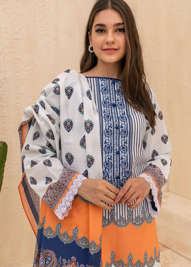 Zellbury Embroidered Cambric Suits Unstitched 2 Piece ZL21CB WUC21E20017 - Winter Collection