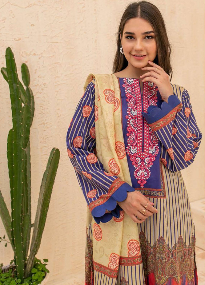 Zellbury Embroidered Cambric Suits Unstitched 2 Piece ZL21CB WUC21E20018 - Winter Collection