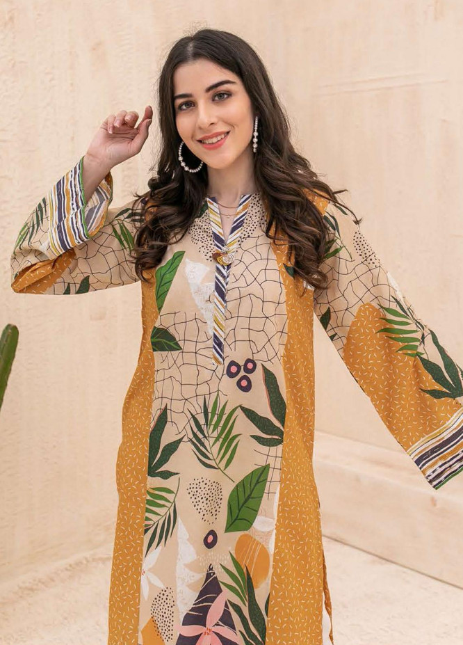 Zellbury Printed Cambric Unstitched Shirt ZL21CB WUC21X10002 - Winter Collection