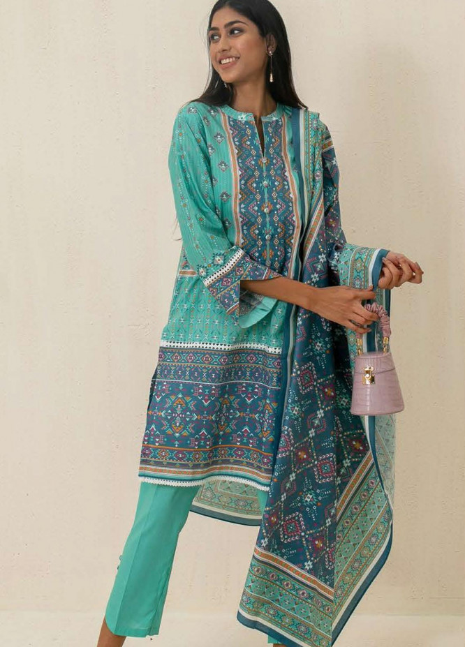 Zellbury Printed Cambric Suits Unstitched 3 Piece ZL21CB WUC21X30024 - Winter Collection