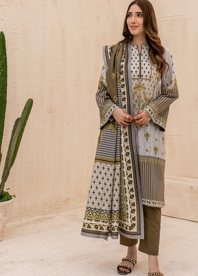Zellbury Printed Cambric Suits Unstitched 3 Piece ZL21CB WUC21X30033 - Winter Collection
