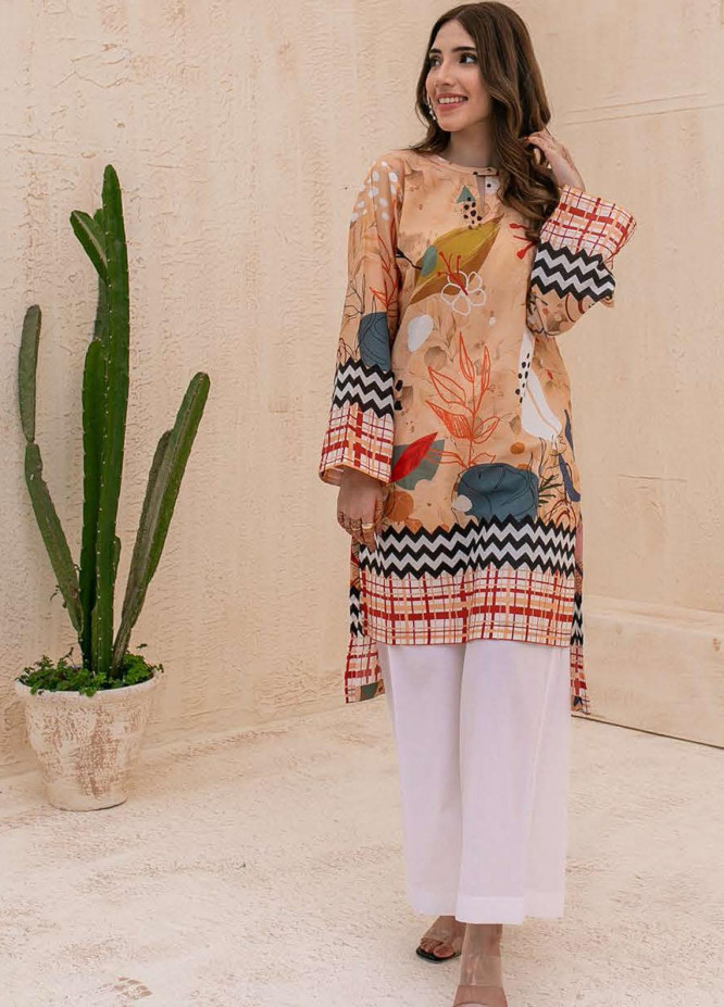 Zellbury Printed Cambric Unstitched Shirt ZL21CB WUC21X10005 - Winter Collection