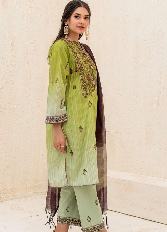 Zellbury Embroidered Cambric Suits Unstitched 3 Piece ZL21CB WUC21E30080 - Winter Collection