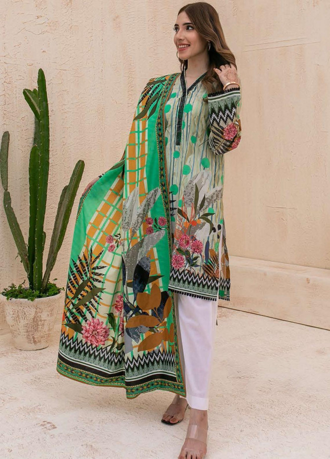 Zellbury Printed Cambric Suits Unstitched 2 Piece ZL21CB WUC21X20013 - Winter Collection