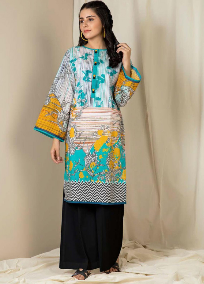 Zellbury Printed Lawn  Unstitched Kurties ZB21L-2 Wusc 799 - Summer Collection