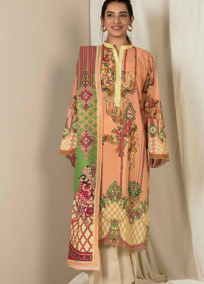 Zellbury Printed Lawn Suits Unstitched 3 Piece ZB21L-2 Wusc 847 - Summer Collection