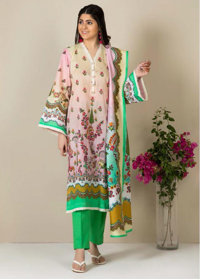 Zellbury Printed Lawn Suits Unstitched 3 Piece ZB21L-2 Wusc 853 - Summer Collection