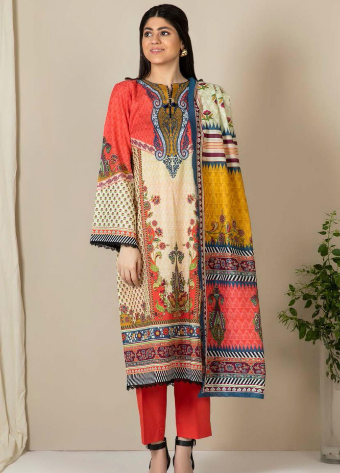 Zellbury Printed Lawn Suits Unstitched 3 Piece ZB21L-2 Wusc 854 - Summer Collection