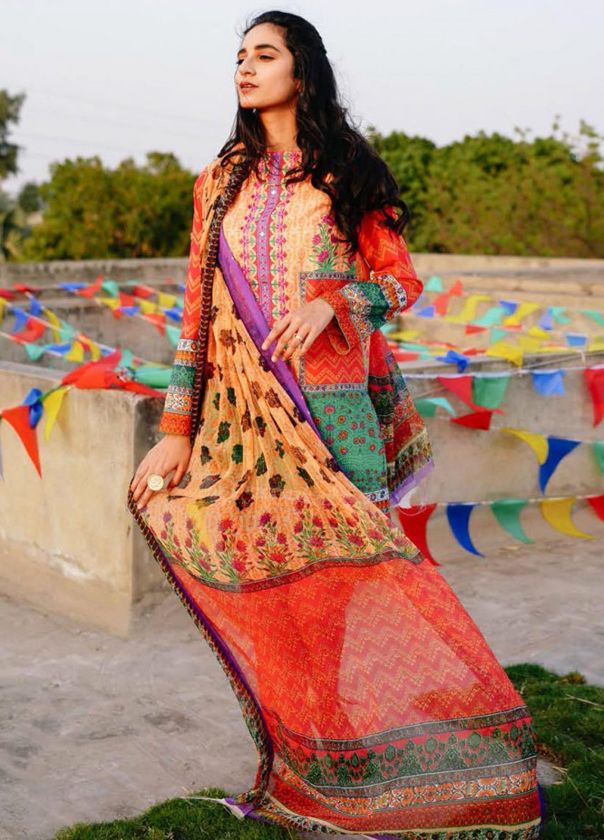 Zellbury Embroidered Lawn Suits Unstitched 2 Piece ZB21L-2 Wusce 824 - Summer Collection