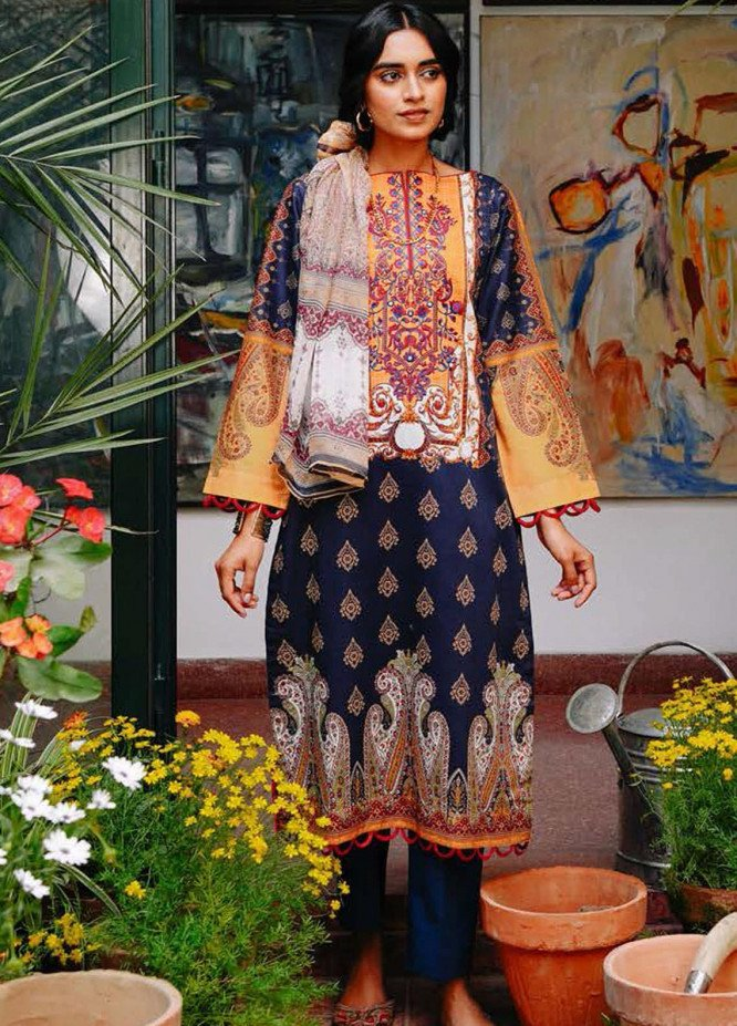 Zellbury Embroidered Lawn Suits Unstitched 2 Piece ZB21L-2 Wusce 826 - Summer Collection