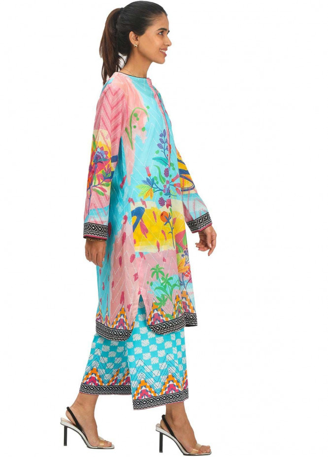 Zellbury Printed Lawn Unstitched 2 Piece Suit ZB21L Wusc-724 - Summer Collection