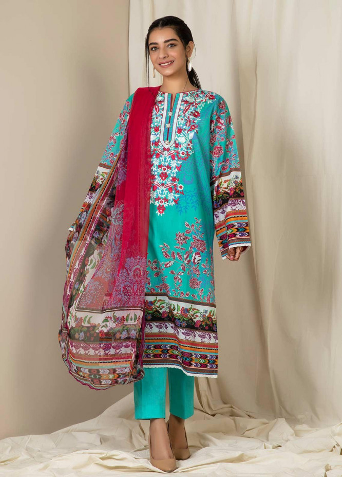 Zellbury Embroidered Lawn Unstitched 2 Piece Suit ZB21L Wusce-748 - Summer Collection